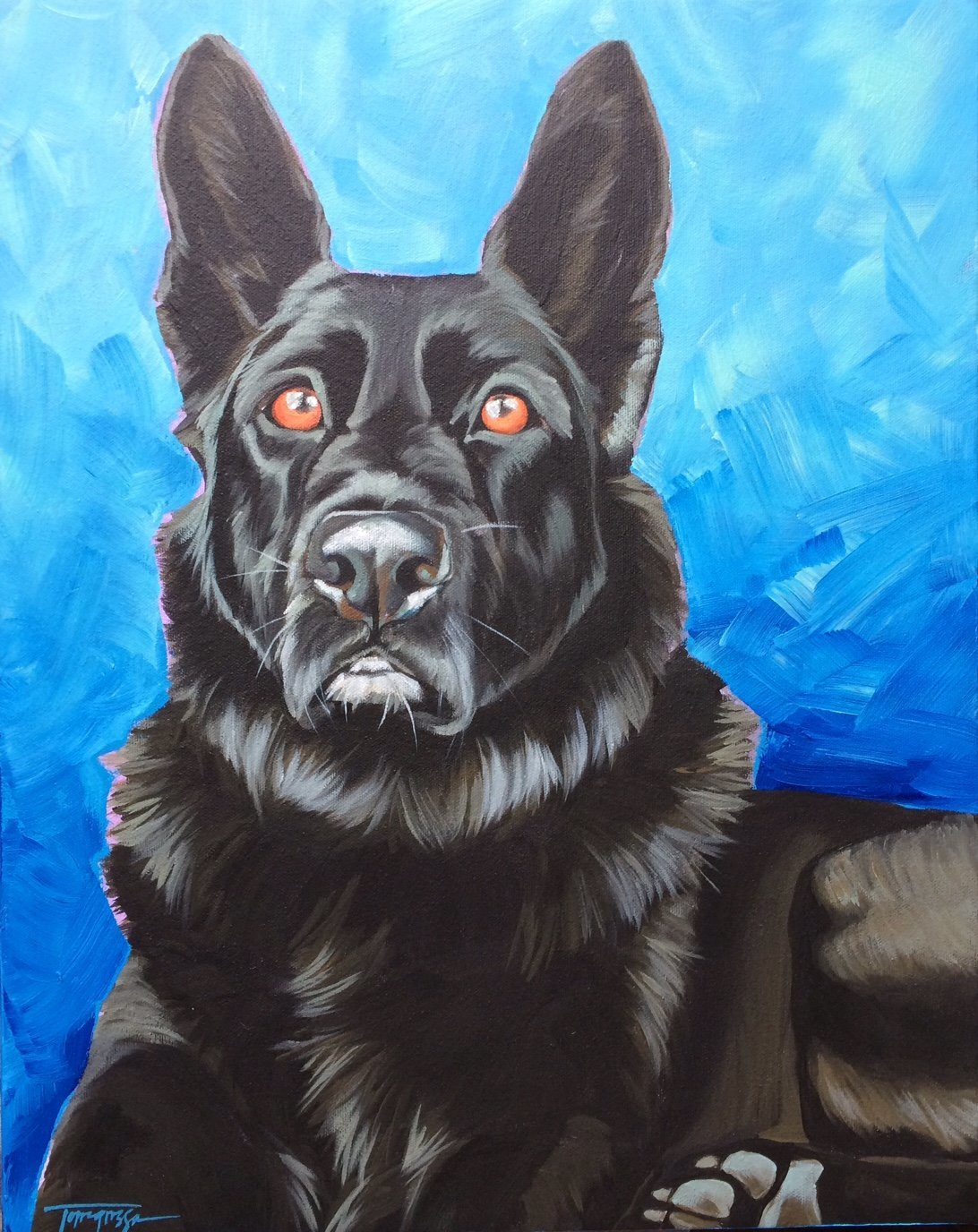 Torregrossa Fine Art Custom Pet Portrait by Stephanie T Gaffney german shepherd dog