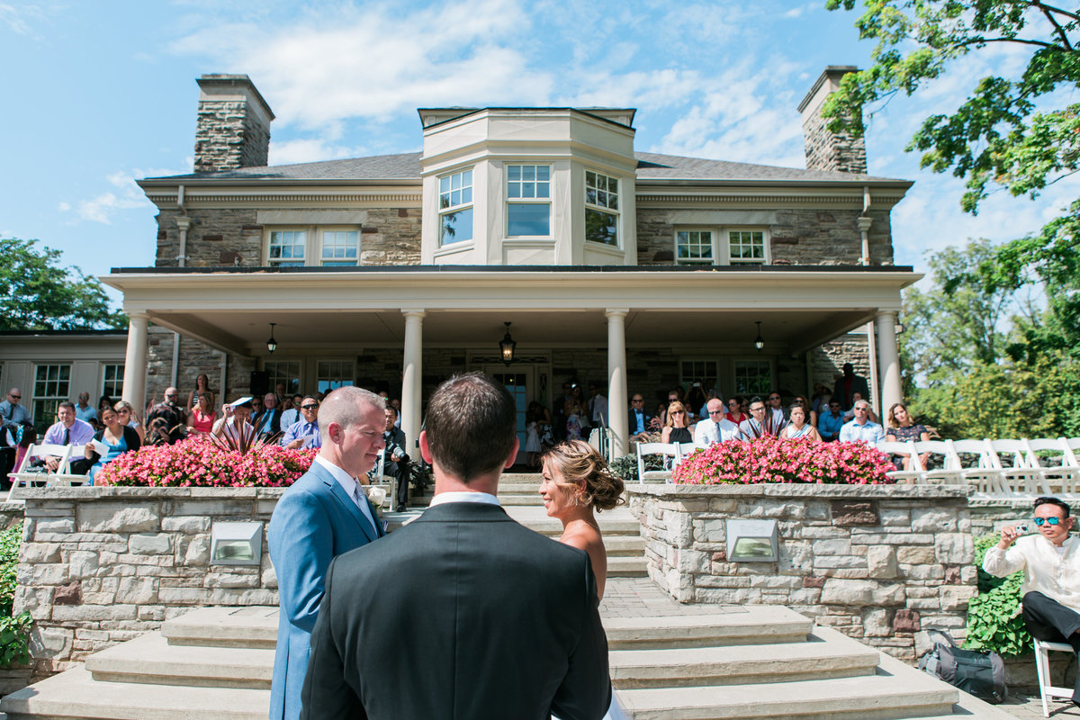 Burlington Wedding Photographer Paletta Mansion Outdoor Ceremony Bride