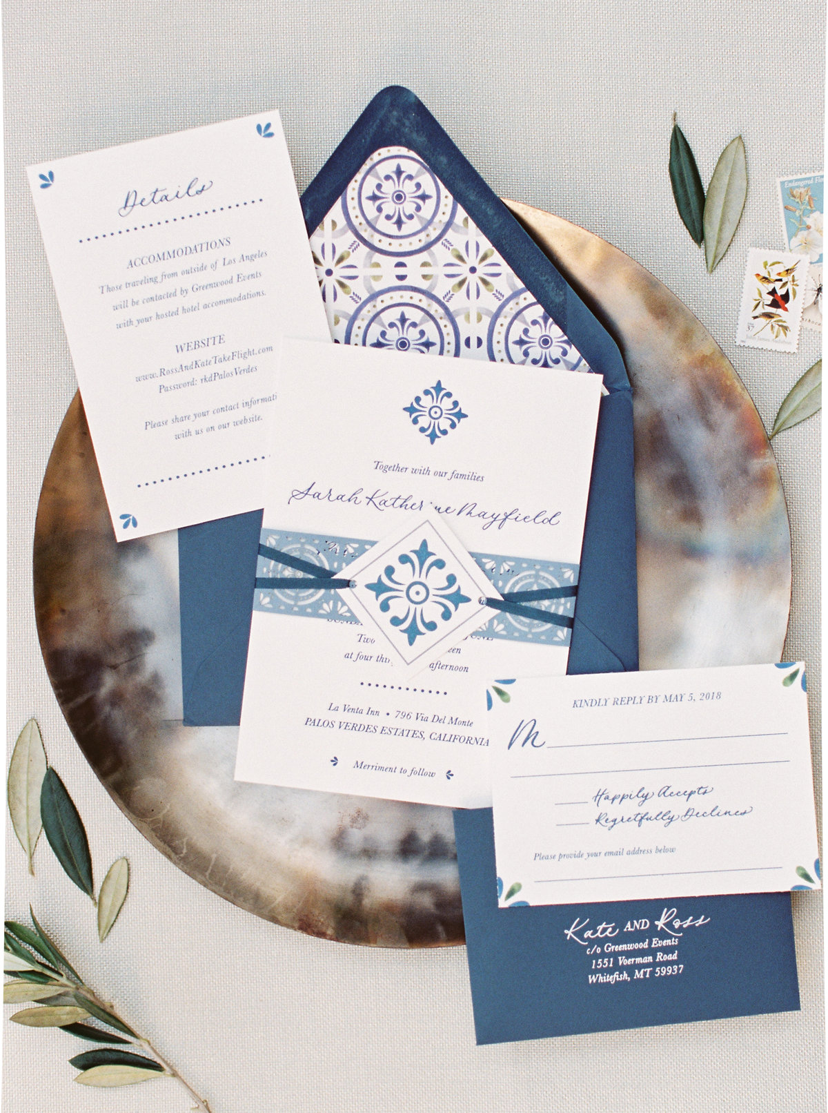 California Wedding Invitation