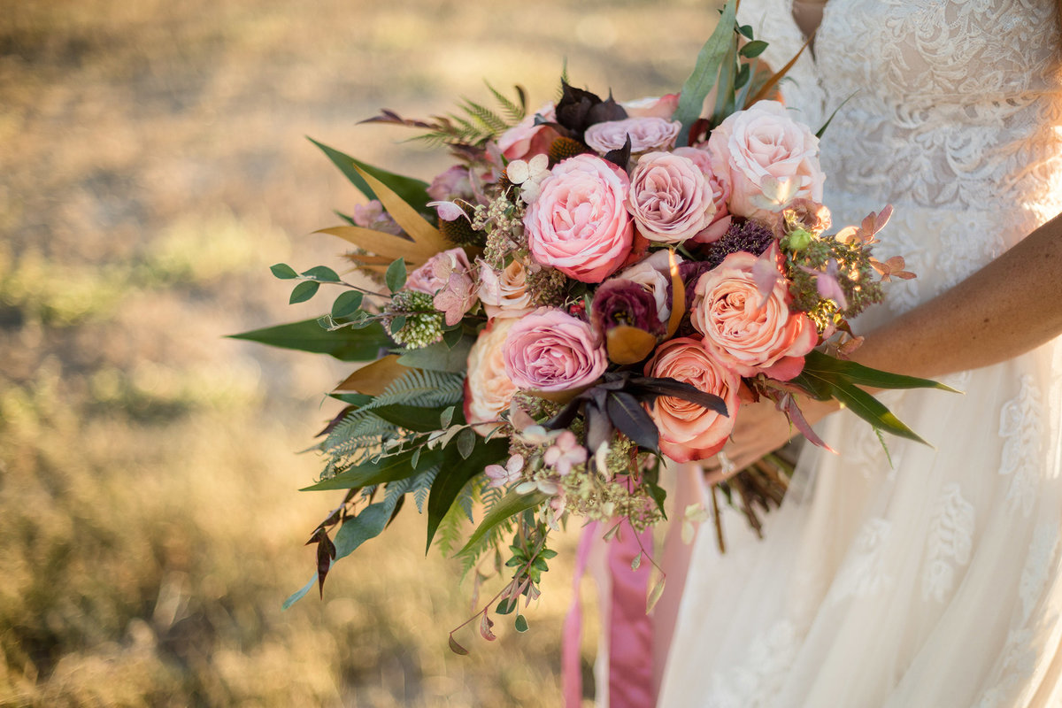 Everett Ranch Rocky Mountain Wedding Outdoor Barn Rustic Salida Colorado Alpaca Collegiate Peaks Vintage Ranch Dried Florals Blush Rose 019