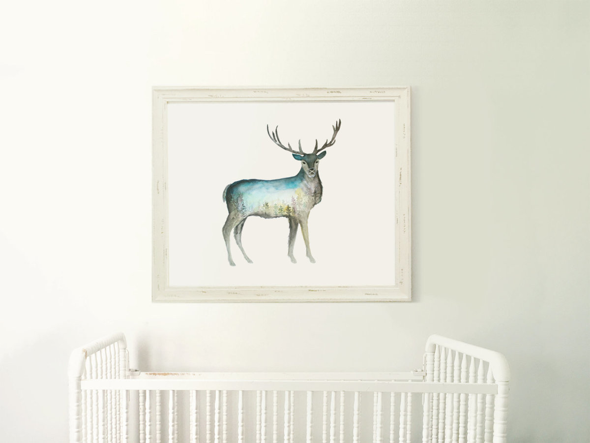 Galaxy_Deer_Buck_Profile_Mountain_Night_Printable_Artwork_-_Animal_Nursery_-_Watercolor_-_Northern_L-482415380-_3