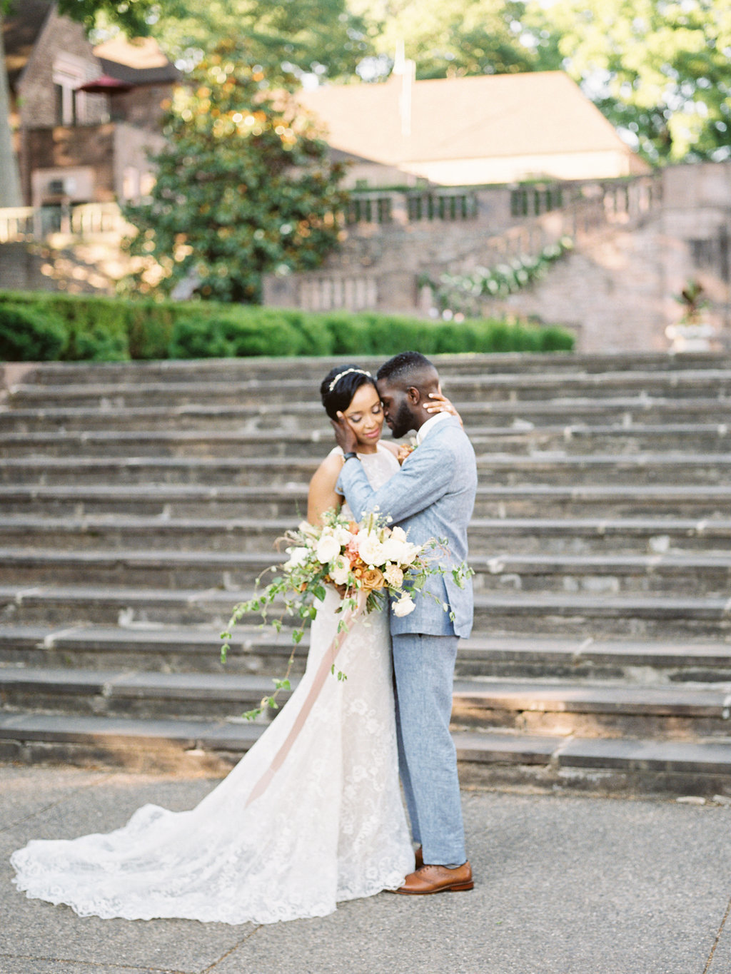 Summer Wedding Tyler Gardens Philadelphia bride groom