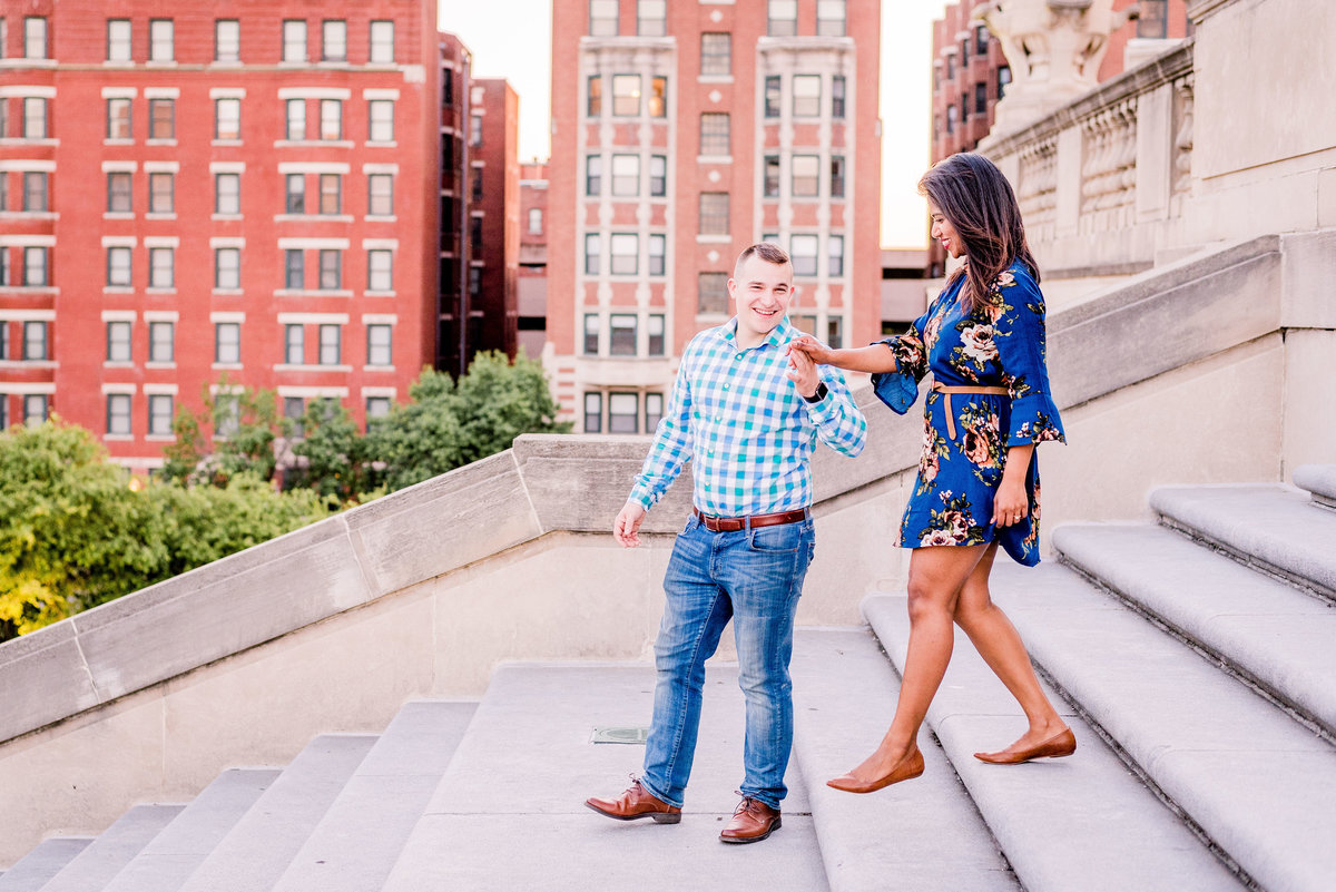 Engagement Photographer Couple Photographer Downtown Indianapolis Photographer-13