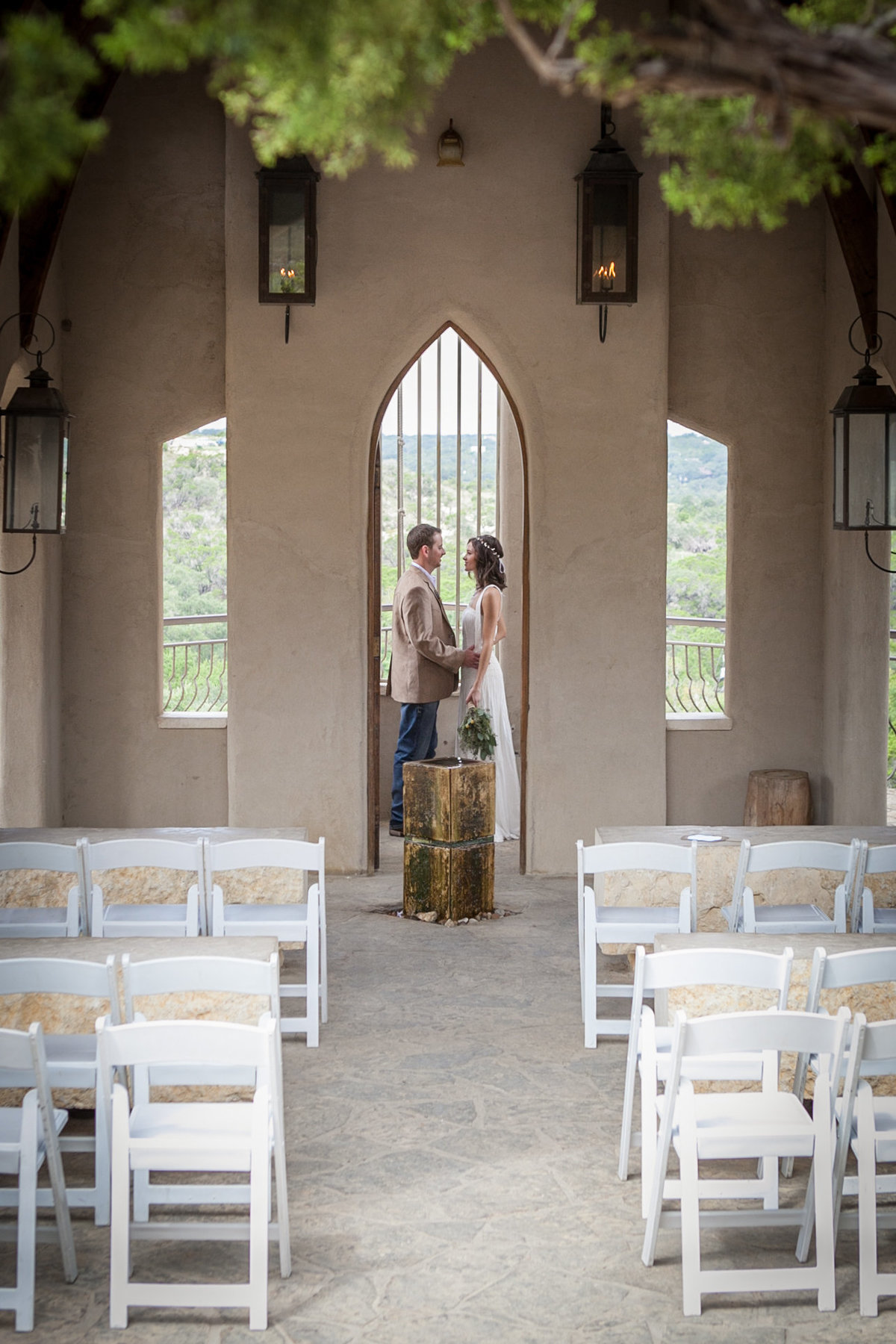 Chapel Dulcinea, Austin Family Photographer, Tiffany Chapman Photography bride and groom in the chapel photo