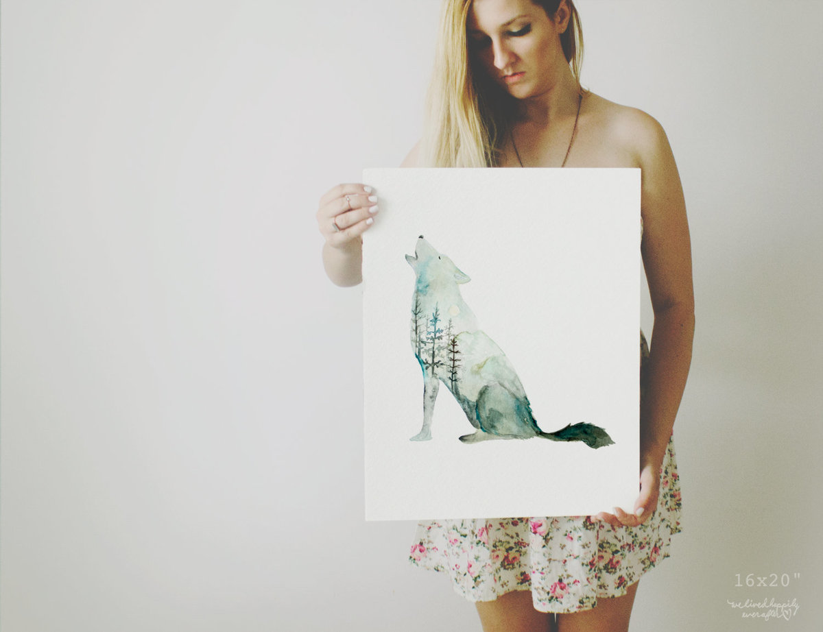 Galaxy_Howling_Wolf_Profile_Mountain_Printable_Artwork_-_Animal_Nursery_-_Watercolor_-_Northern_Ligh-482244159-_5