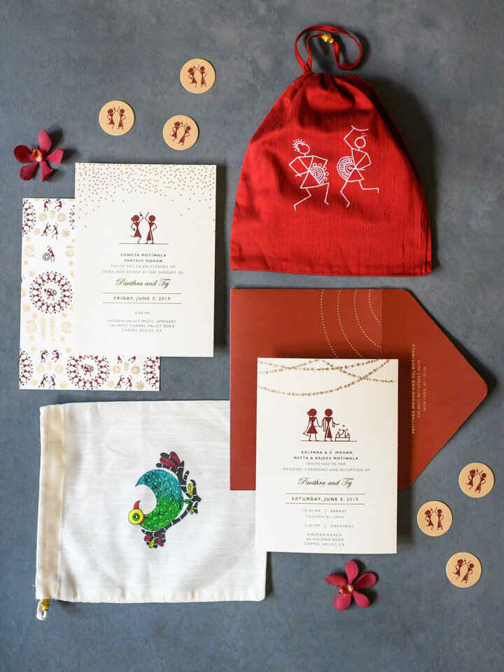 indian wedding invitation suite