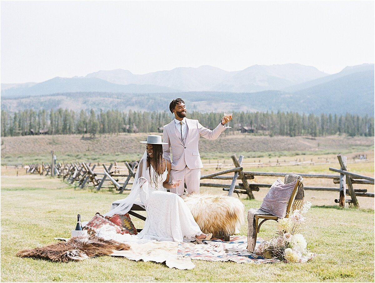 Colorado wedding decor Aspen