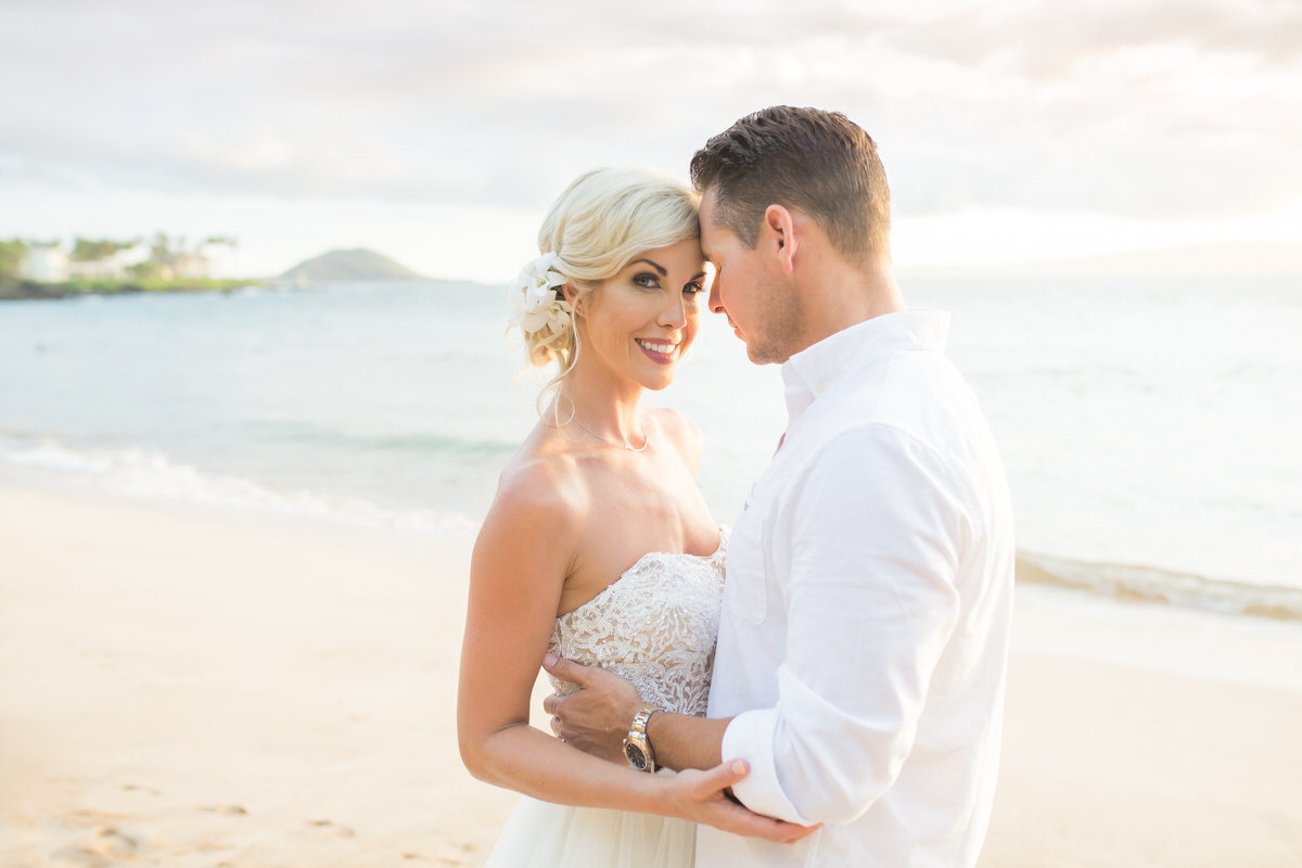 Maui Vow Renewal Intimate moment