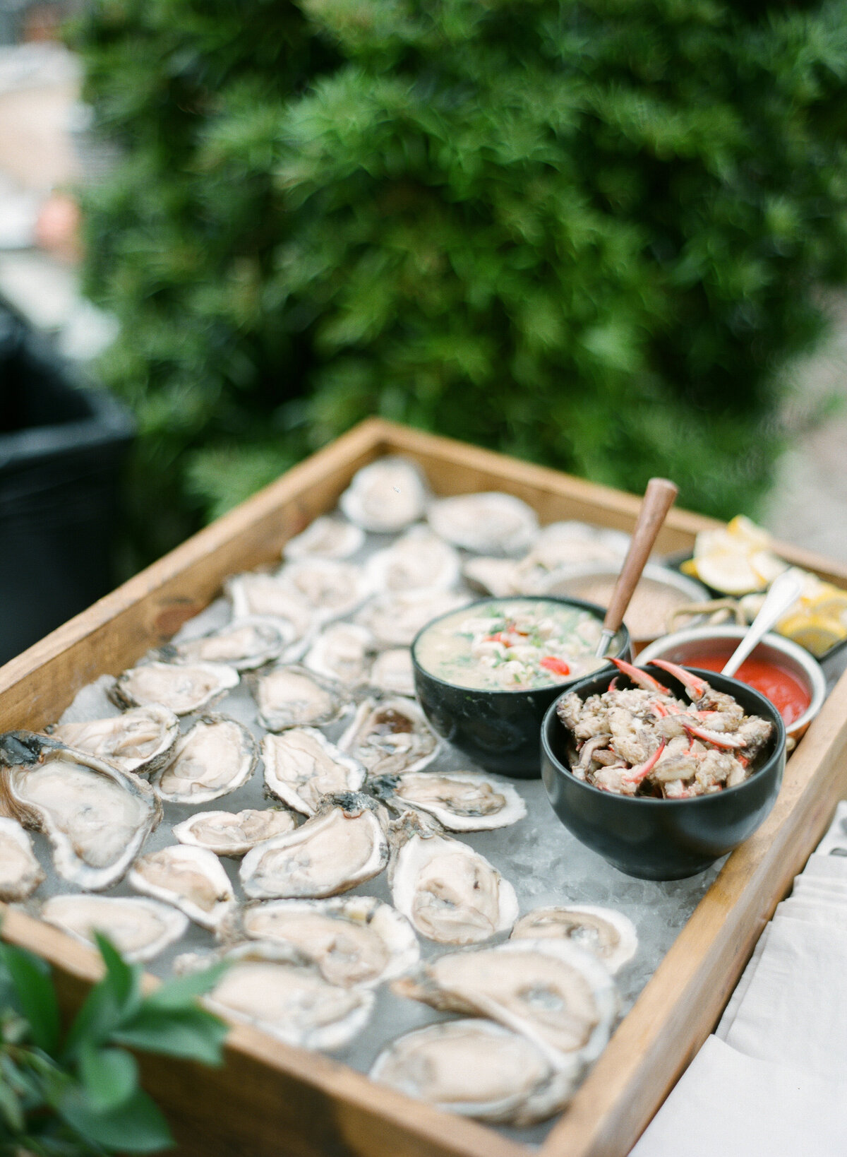 Oyster bar wedding