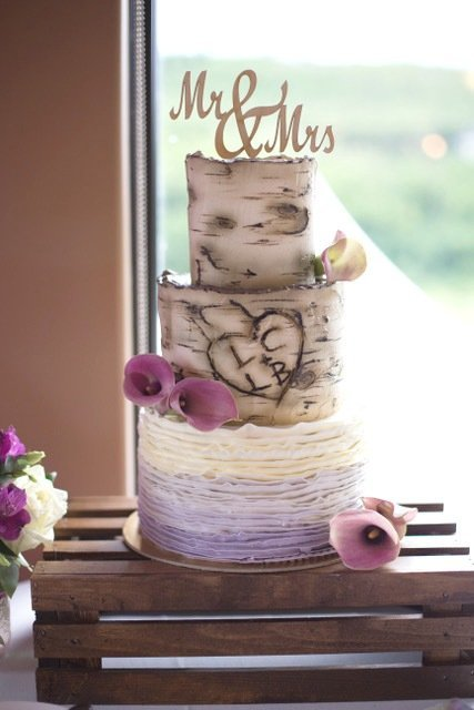 Whippt Desserts - wedding cake birch bark tree design 2017