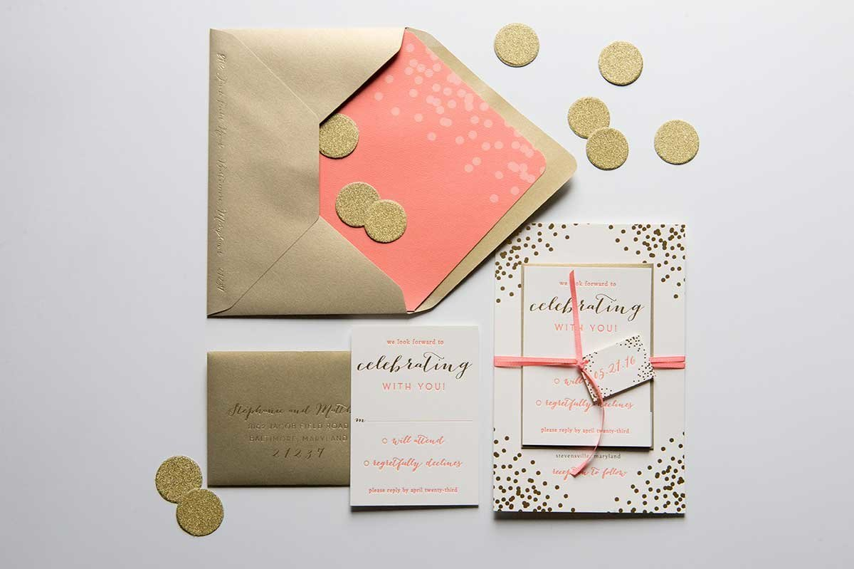 StephanieMatt-Letterpress-Glitter-InvitationSuite