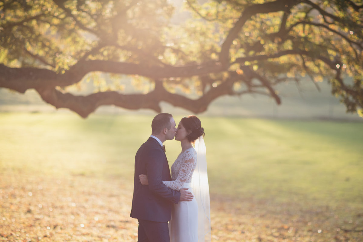 bride and groom winter wedding at st audries park somerset november