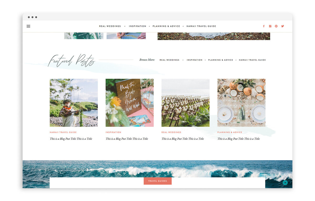 Hawaii Wedding Love - Custom Brand Logo and Showit Web Website Design by With Grace and Gold - 15