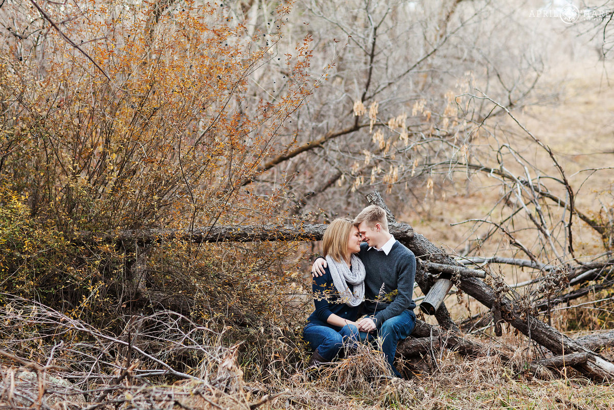 Boulder Colorado Winter Engagement Photogrpahy Chautauqua Park McClintock Trail