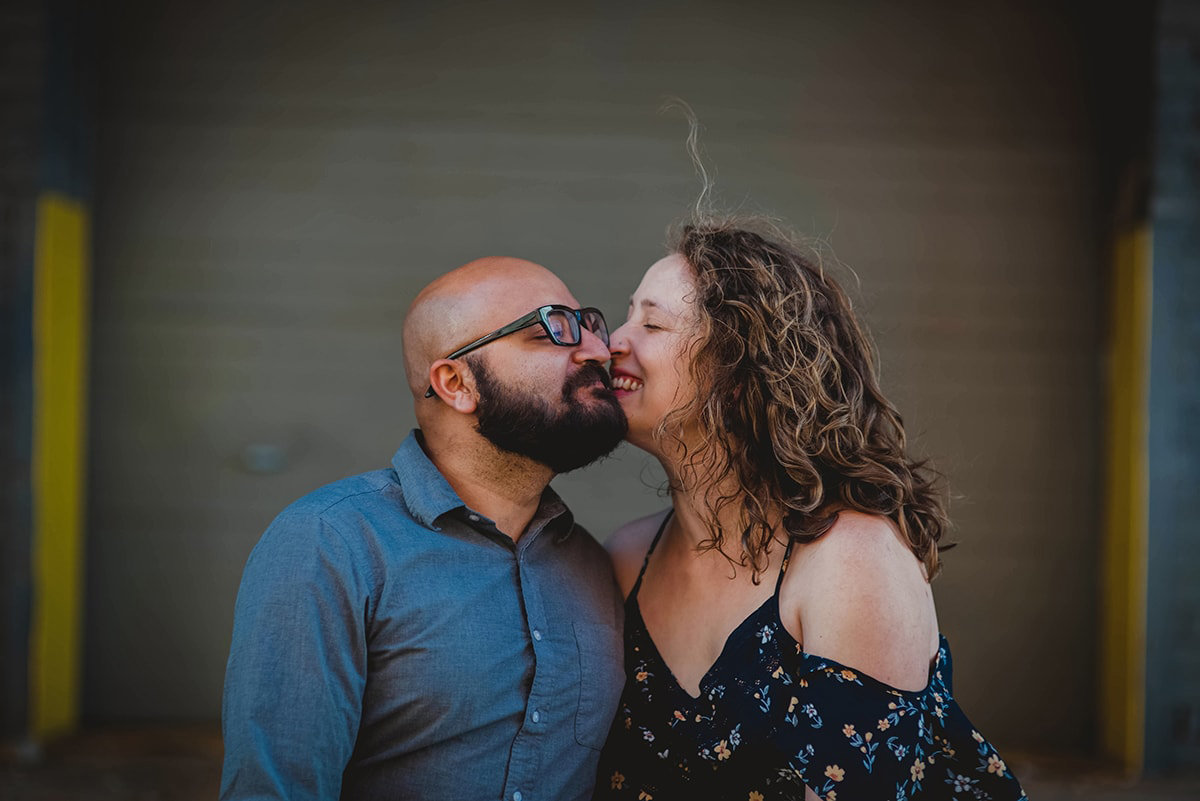 Birmingham engagement session downtown, near Railroad Park