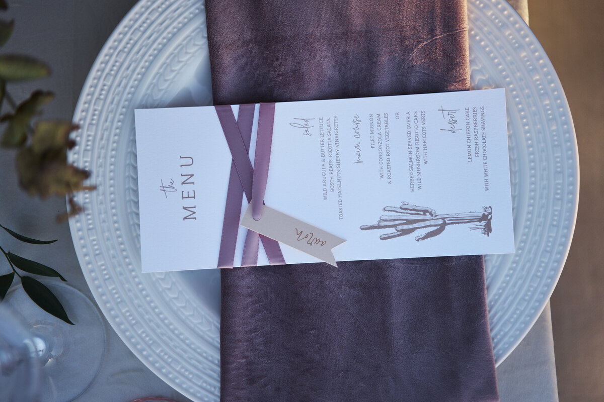 purple velvet napkin
