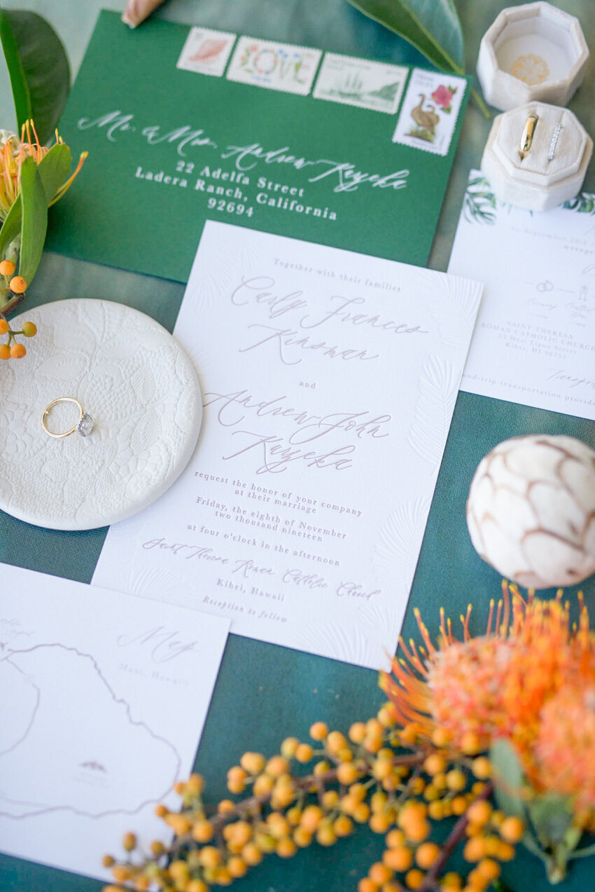 pirouettepaper.com | Wedding Stationery, Signage and Invitations | Pirouette Paper Company | Sugar Beach Resort in Maui, Hawaii | Maui Hawaii Wedding 02
