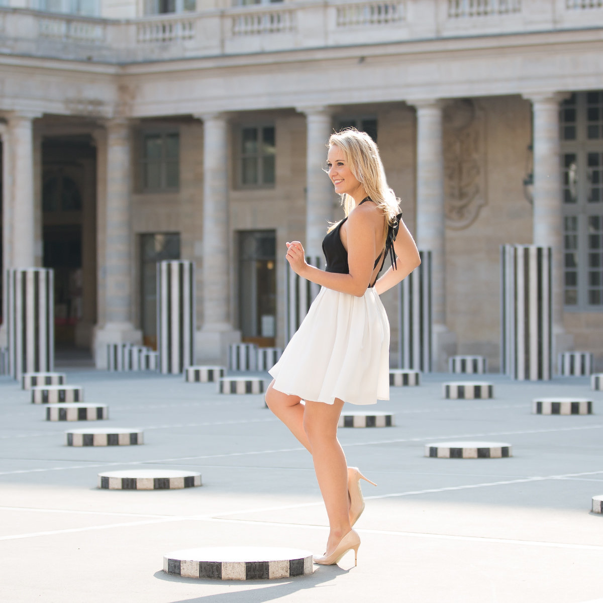 Portrait in the Palais Royal