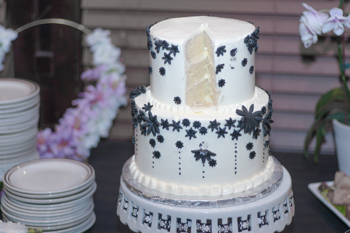 Woodstock Southside Park Wedding Interracial Couple Wedding Cake Two Guys and A Whisk