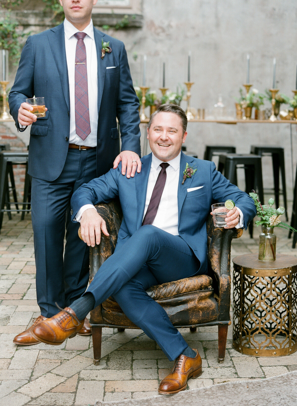 Gay wedding portraits