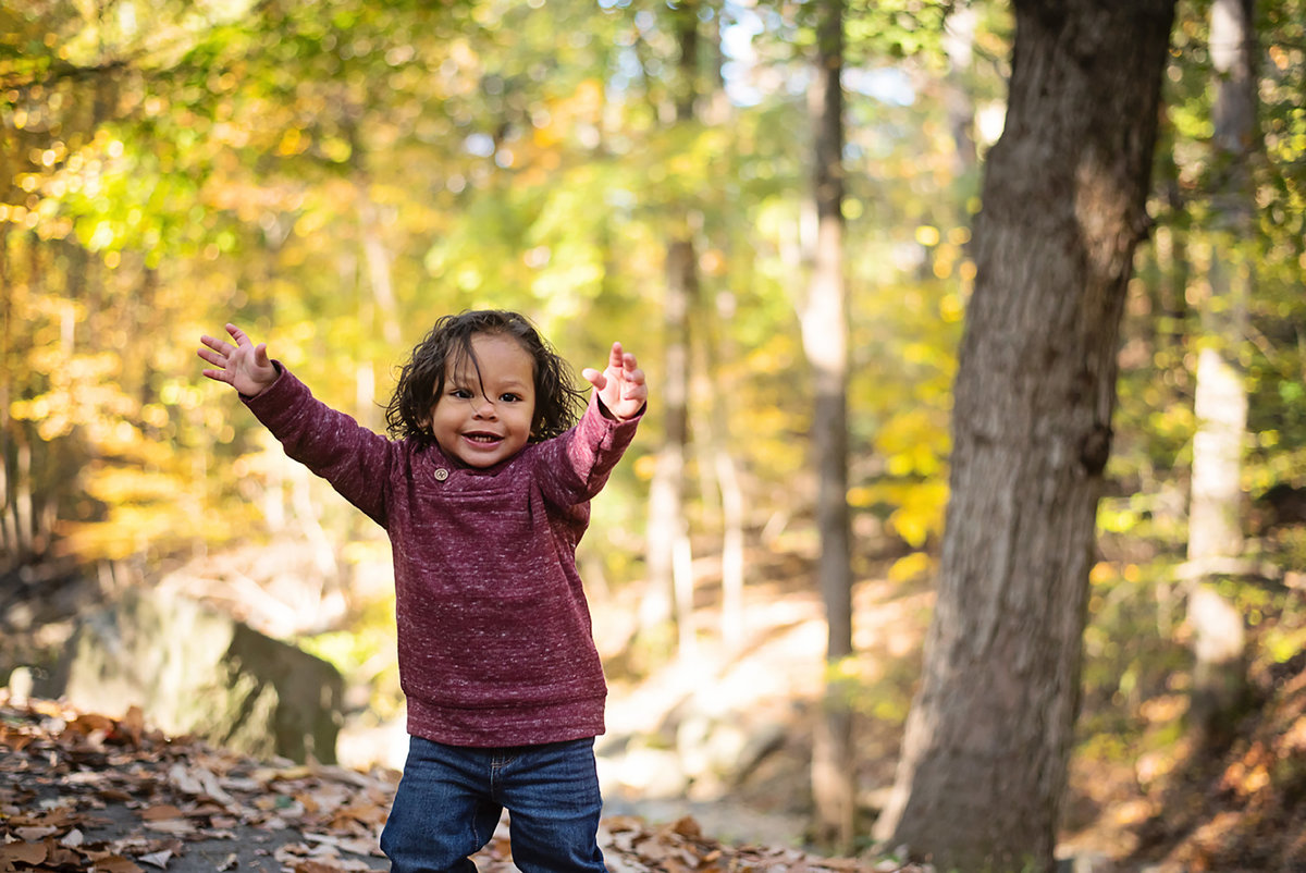 Beautiful fall children's portrait at Lubber Run Park in Arlington Virginia by Sarah Alice Photography