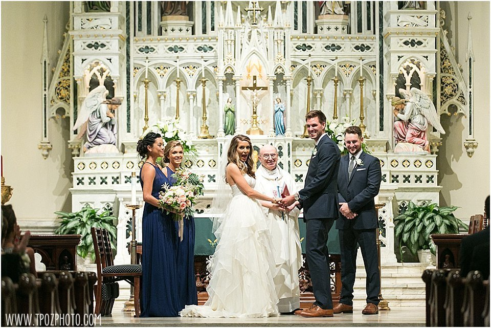 St. Mary's Church Annapolis Wedding Ceremony || tPoz Photography