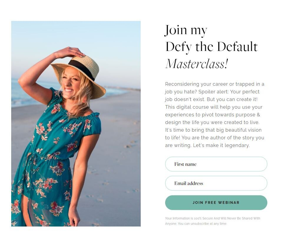 Defy the Default Website