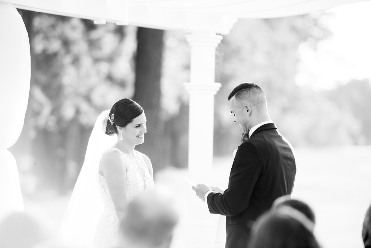blue heron pines wedding ceremony