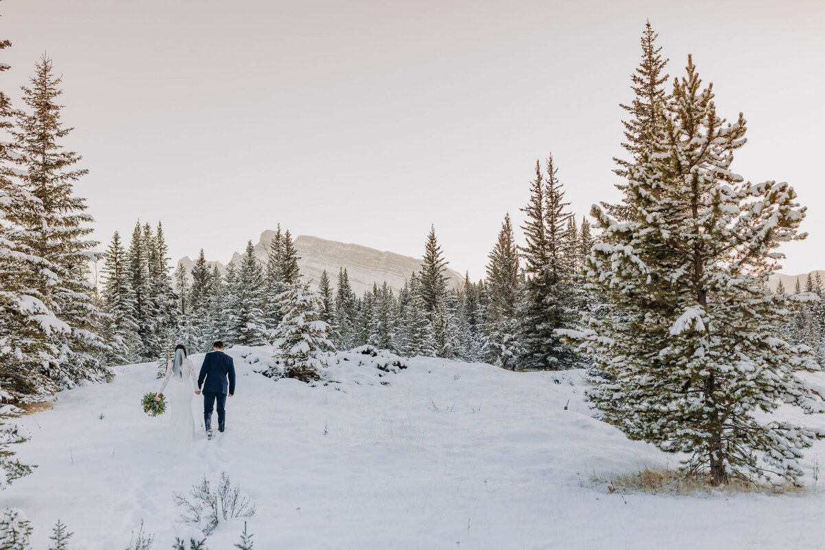 Stunning Winter Wedding Photos in Banff National Park