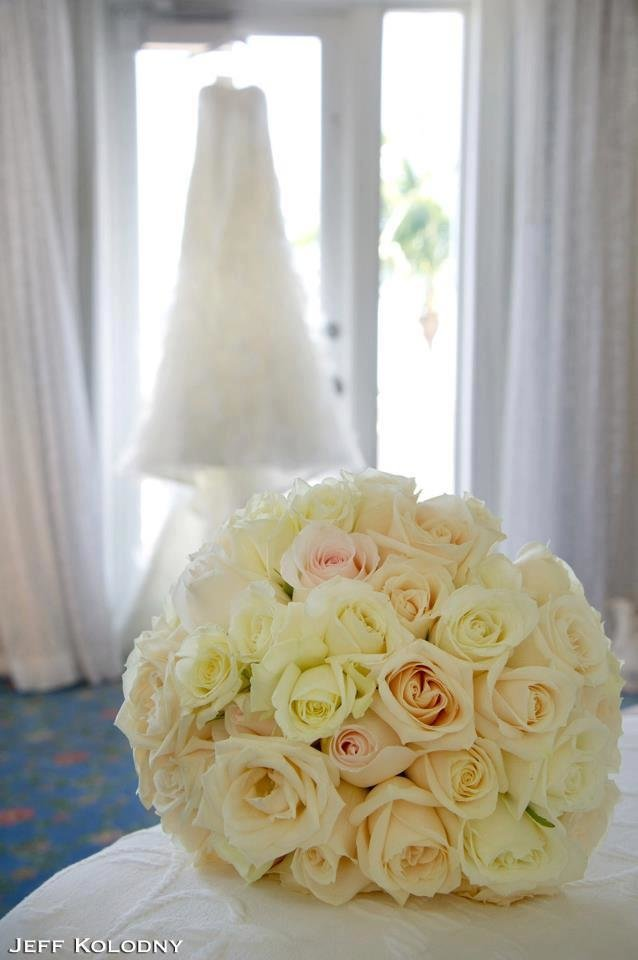 White rose wedding