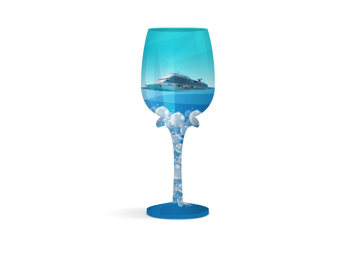 Painted WINE Glass-C-PRESENATION