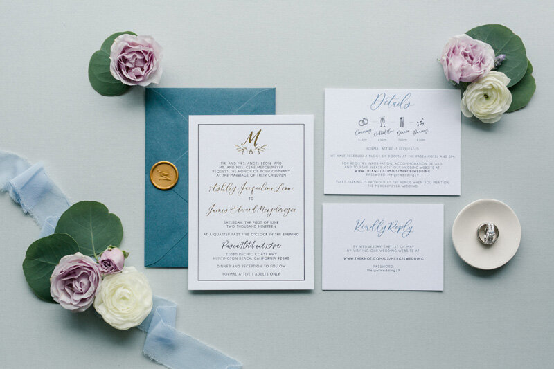 pirouettepaper.com | Wedding Stationery, Signage and Invitations | Pirouette Paper Company | Pasea Huntington Beach Wedding |  Kaysha Weiner Photography_ (2)