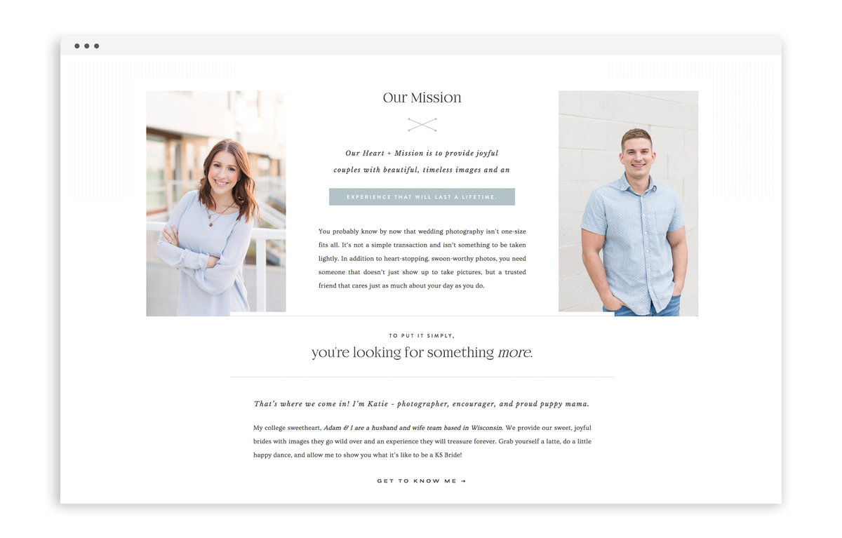 Katie Schubert Photography - Custom Brand and Showit Web Design by With Grace and Gold - Showit Theme, Showit Themes, Showit Template, Showit Templates, Showit Design, Showit Designer - 3