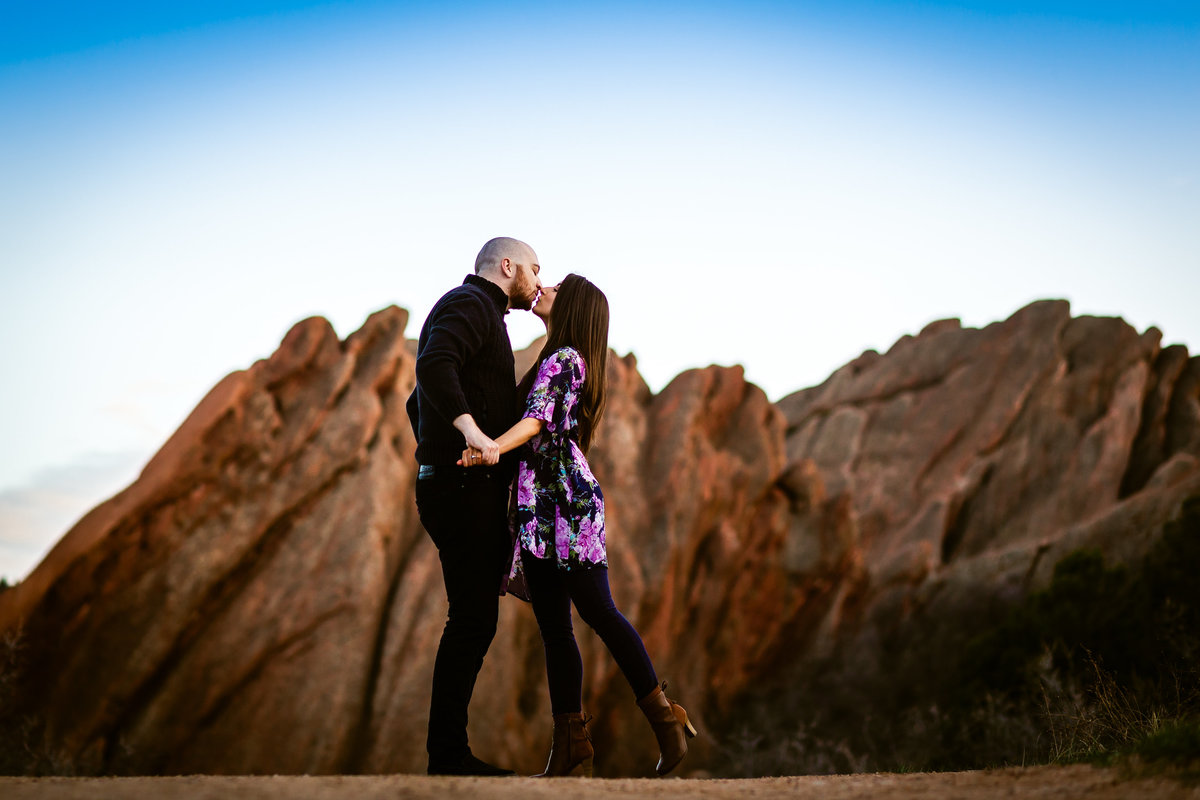 red rocks engagement pics colorado