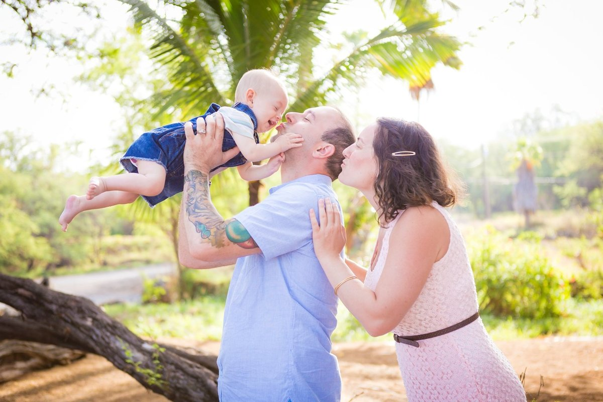 Capture Aloha Photography, Maui Family Portraits with baby, daddy and mommy