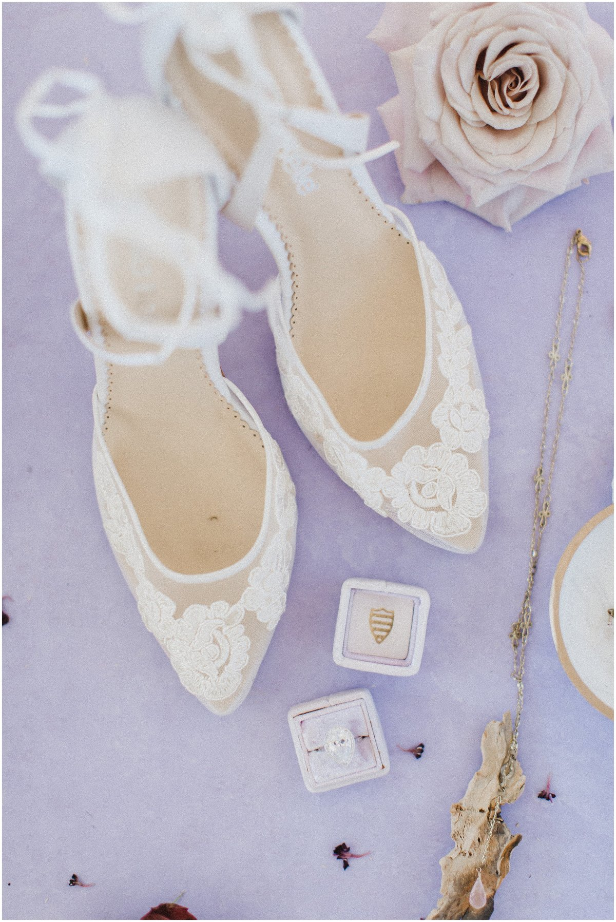 Wedding shoes, wedding ring, Houston Wedding photographer