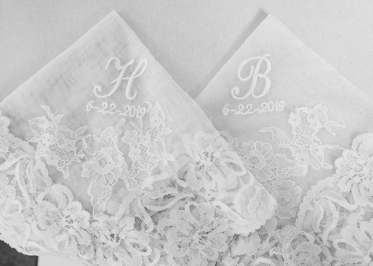 Handkerchiefs made from old wedding dress / Katie Childs Photo