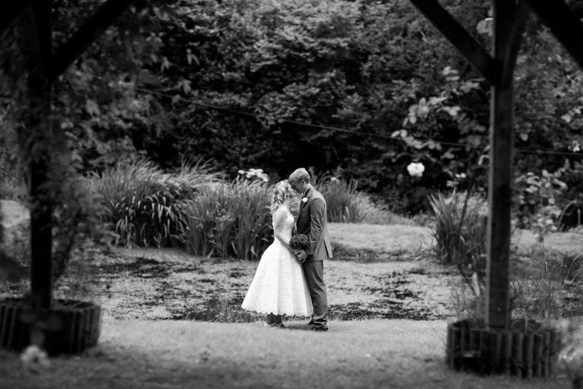 Black and white of couple at The Green in Cornwall