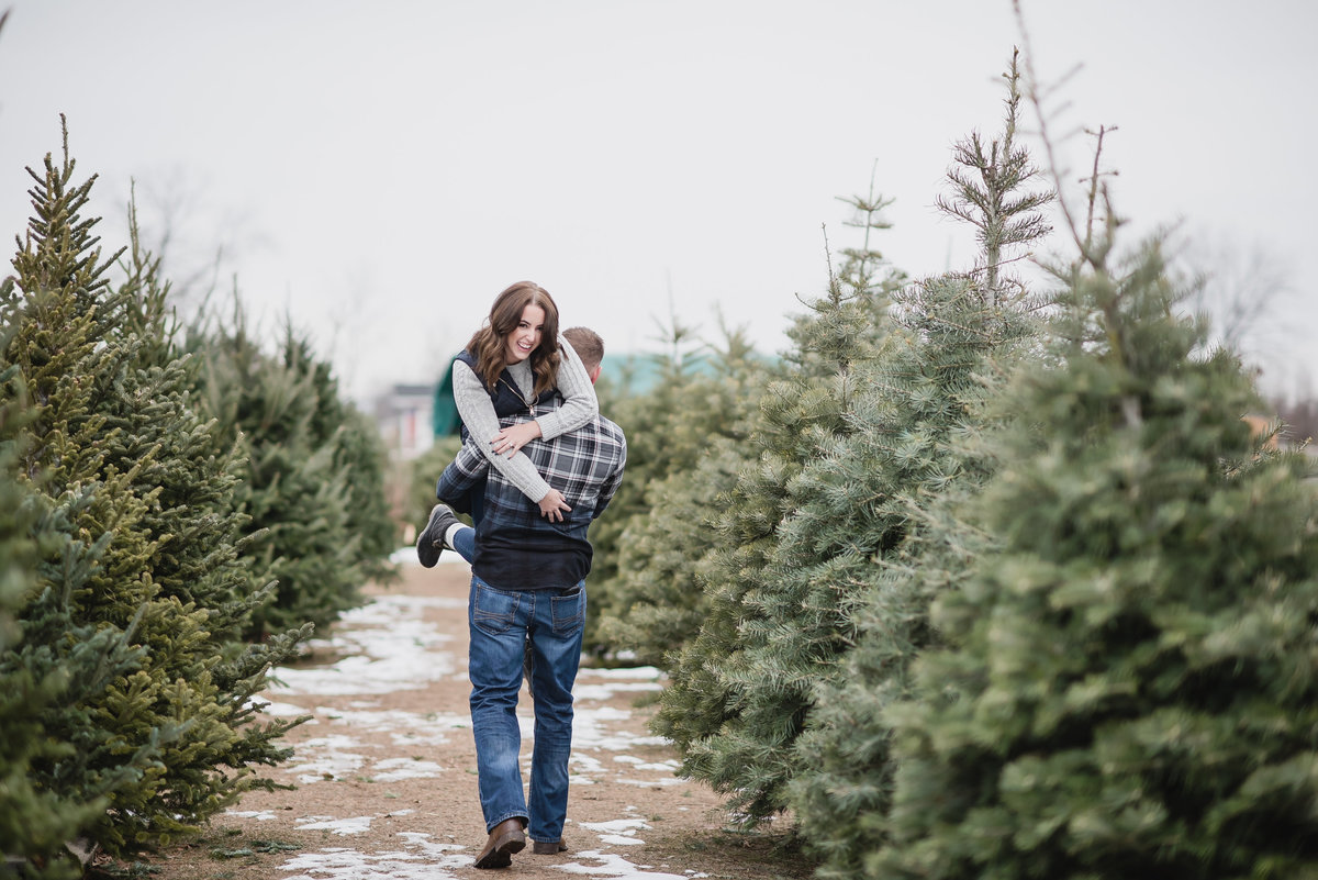 Christmas Tree Farm Baby Announcement2