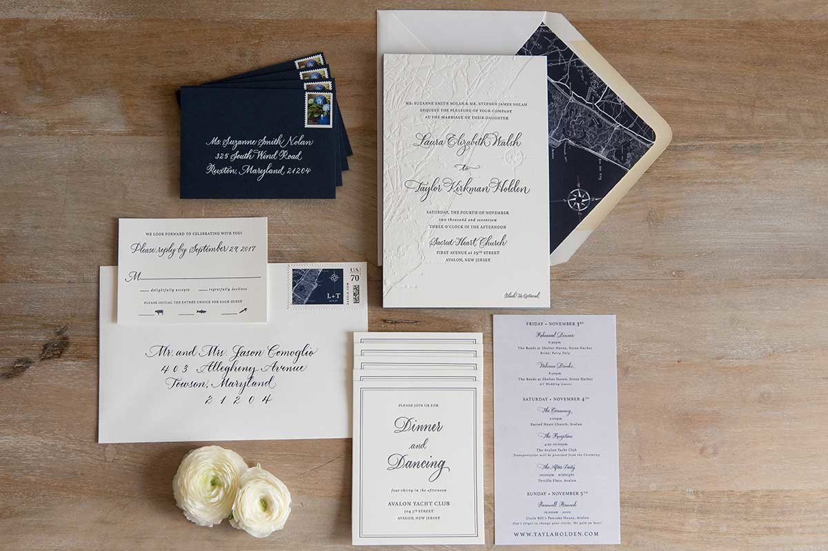 Sue-Letterpress-InvitationSuite-Map-AvalonNewJersey
