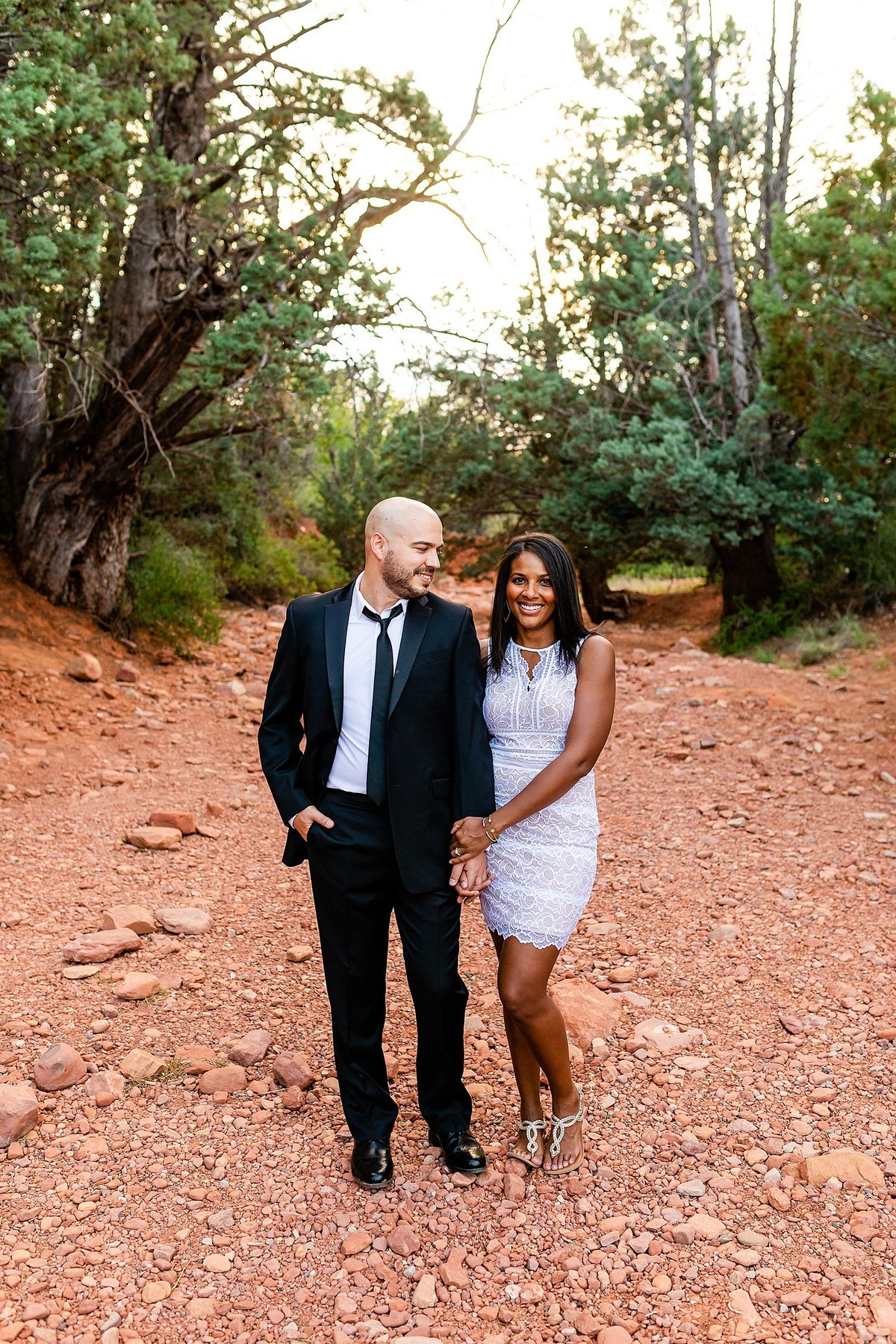 Monica + Austin - Sedona Engagement Session - Cathedral Rock - Lunabear Studios_0195