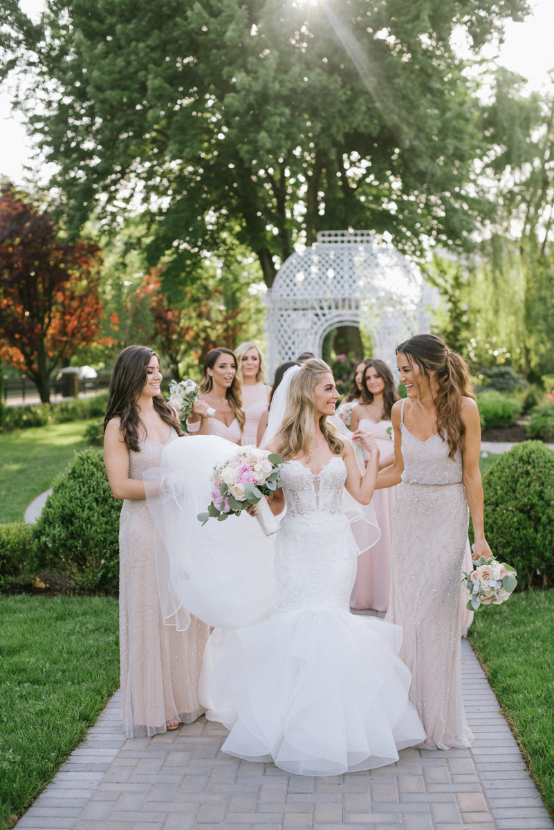 the rockleigh country club bridemaids cute soft light
