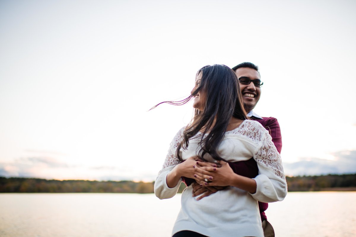 44 waterfront engagement session for ct hindu wedding