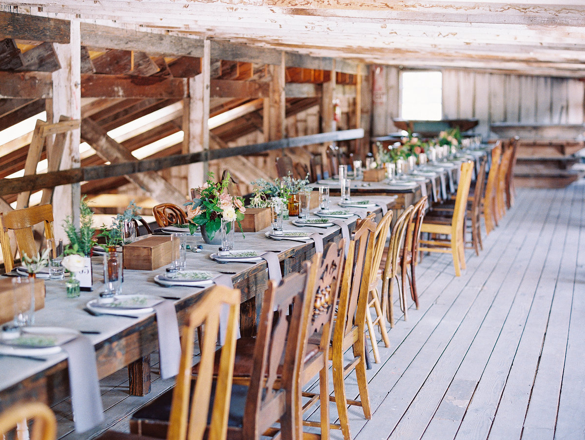 one long table wedding reception