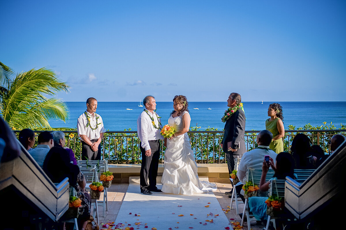 Tropical Wedding Ceremony View