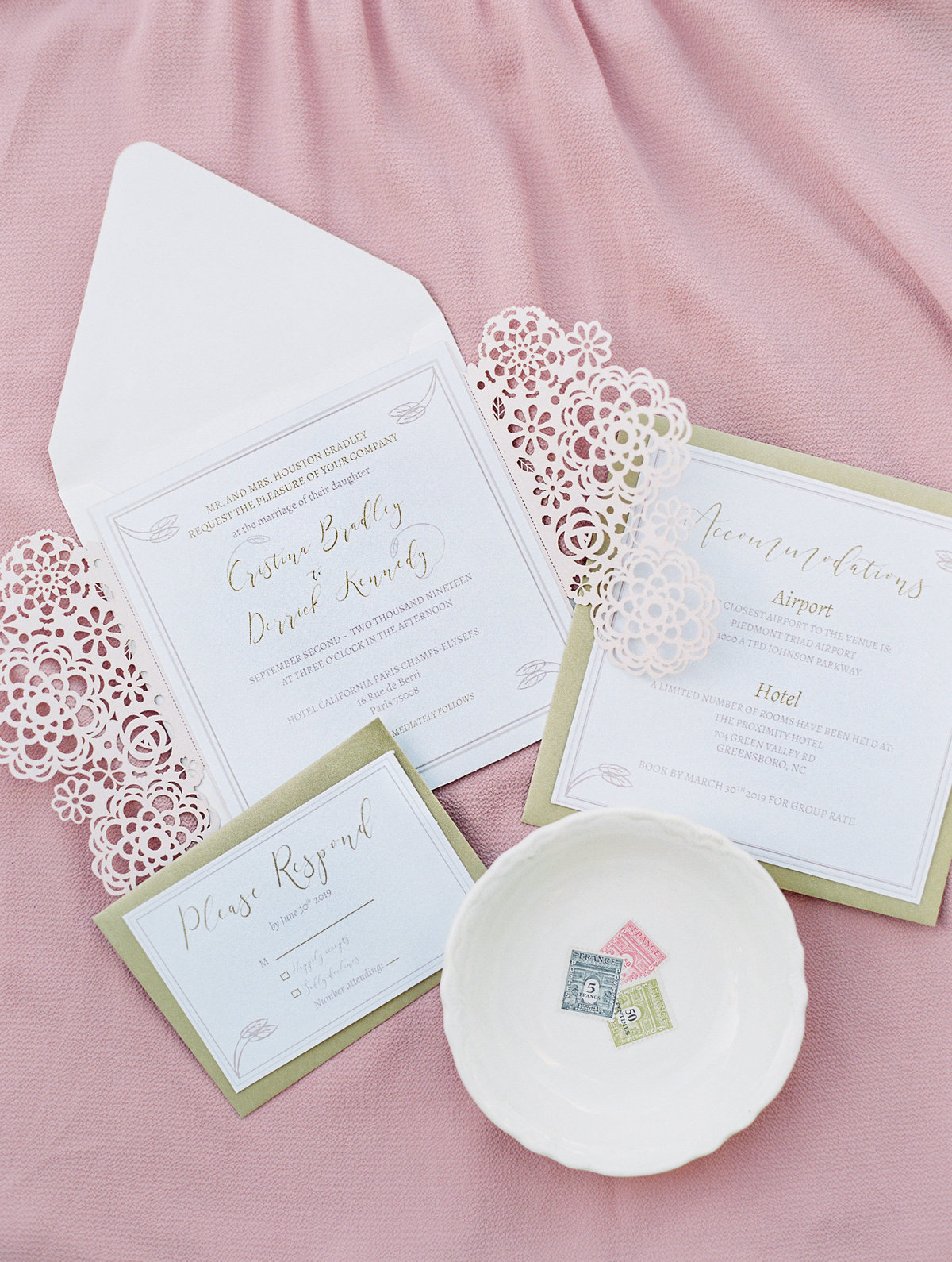 Light Pink Wedding Invitation