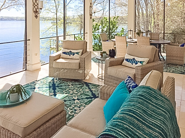 Outdoor Furniture with a Lake View