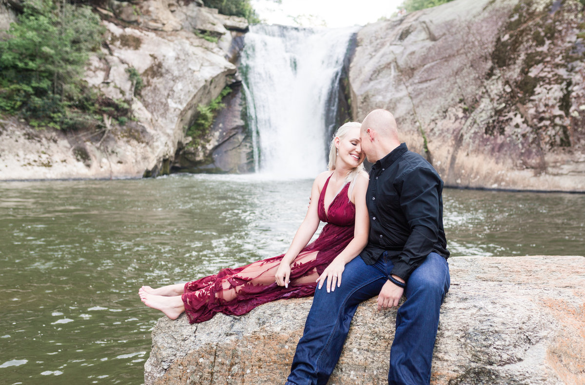 North Carolina Waterfall Engagement Session-6