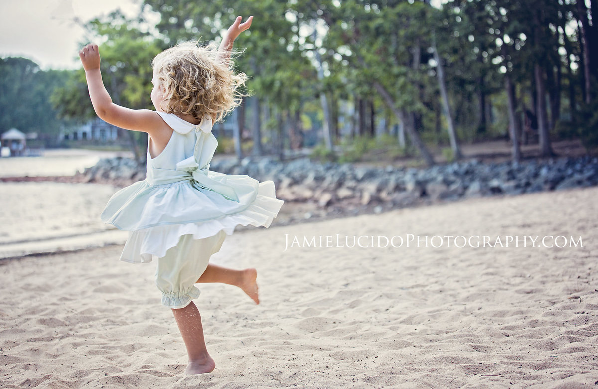 charlotte family photographer creates authentic portrait of a young girl