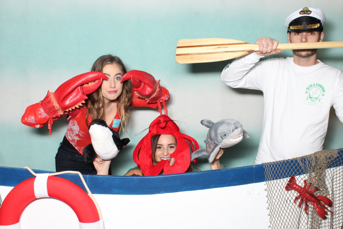 custom ocean props photo booth